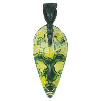 African mask, 'Hawk' - Bird Theme Handcrafted African Mask