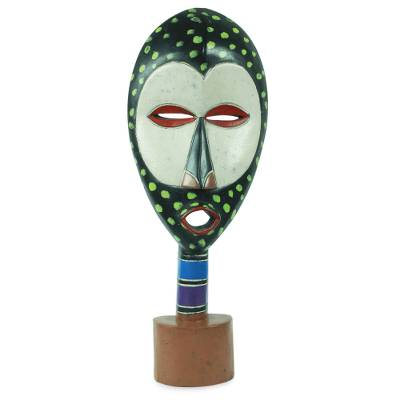 African mask, 'Progress' - Original African Mask and Stand