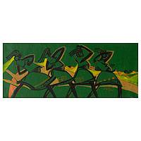 'Moving Forward' - Painting of African Women
