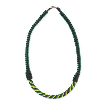Braided Necklace African Artisan Crafted Jewelry
