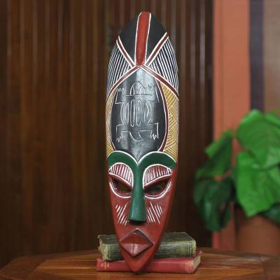 African mask, 'Adaptability' - Fair Trade African Mask