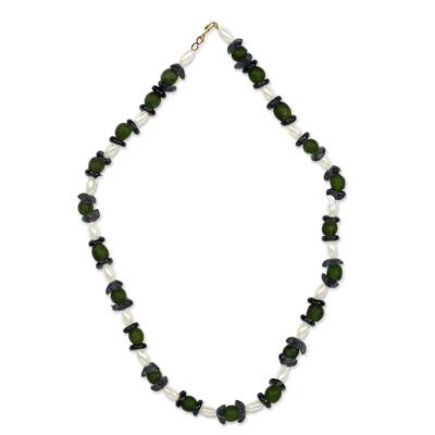 Recycled Glass Beaded Necklace