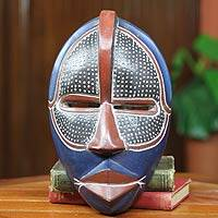 African wood mask, 'Noble Knight'