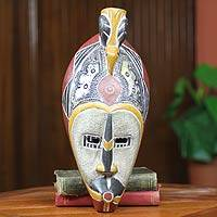 African wood mask, 'Hevi' - African Bird Mask