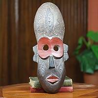 African wood mask, 'Dan Judge' - African Hand Crafted Wood Mask