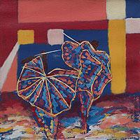 'Takai Dance III' - African Dagomba Folk Dance Painting