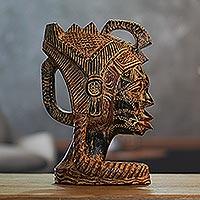 Wood sculpture, 'Woman Warrior'