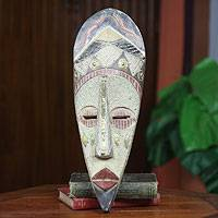 African wood mask, 'Oheneba Baa' - Original African Princess Mask