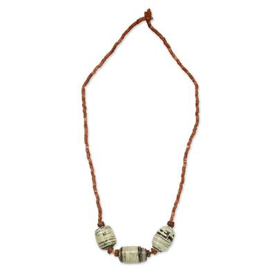 Handmade Necklace with Recycled Paper Beads