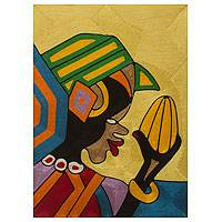 Threadwork art, 'Somuyie I' - Ghanaian Threadwork Wall Art