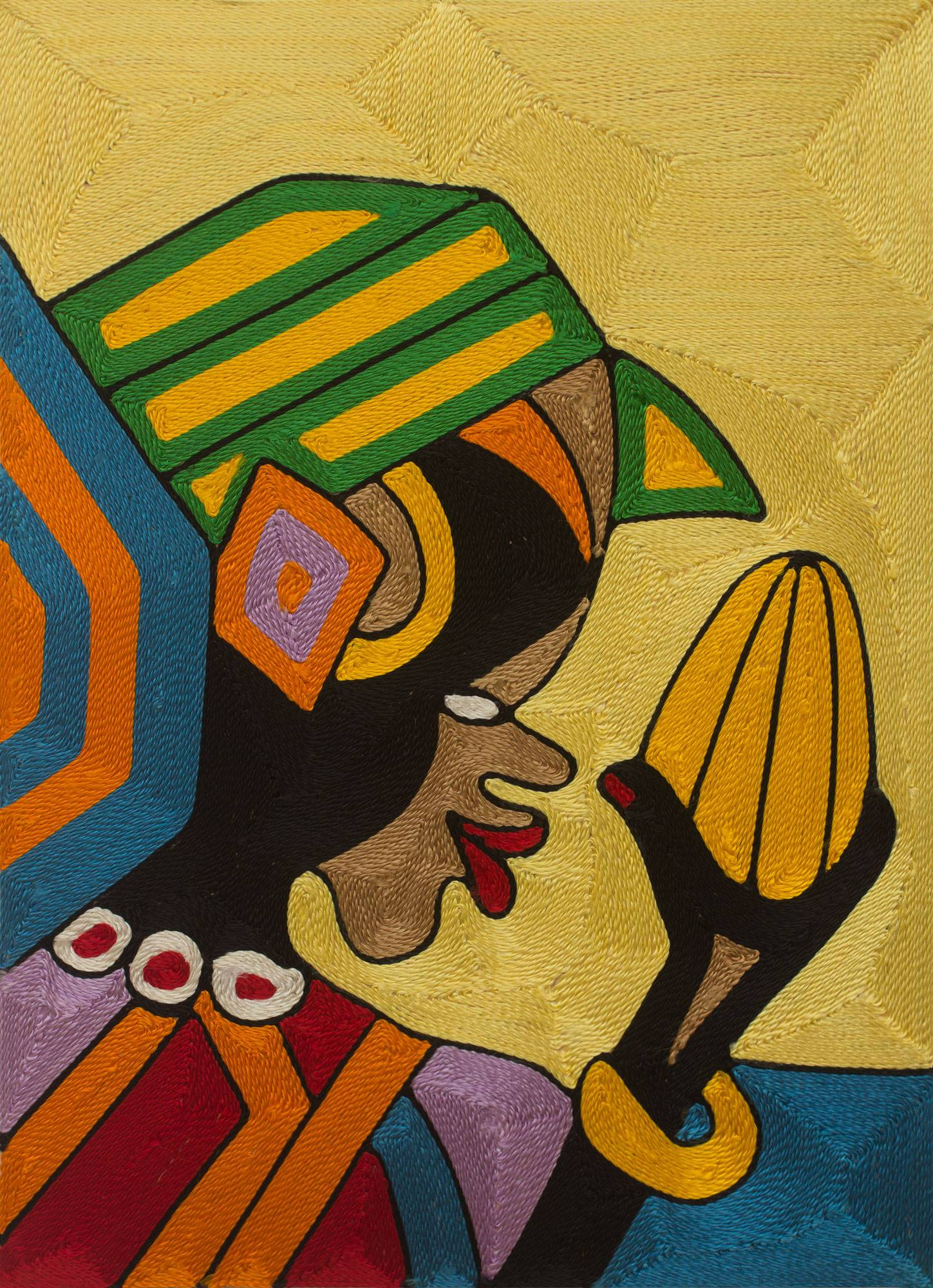 Ghanaian Threadwork Wall Art - Somuyie I | NOVICA