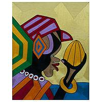 Threadwork art, 'Somuyie II' - African Threadwork Wall Art