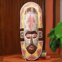 African mask, 'Ga Fisherman' - Handcrafted African Mask to Catch More Fish