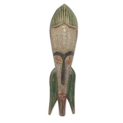 African mask, 'Adamgbe Festival' - Antique Style African Mask from Ghana