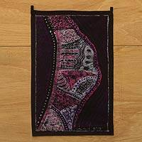 Cotton batik wall hanging, 'Serenity' - Batik on Cotton African Wall Hanging