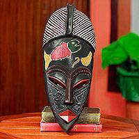 African mask, 'King Houegbadja' - Royal Beninese African Mask