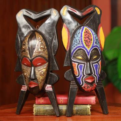 African masks, Gods Gift of Twins (pair)