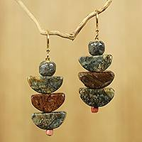 Soapstone beaded earrings, 'Nkabom'