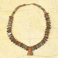 Soapstone beaded necklace, 'Asomdwe'