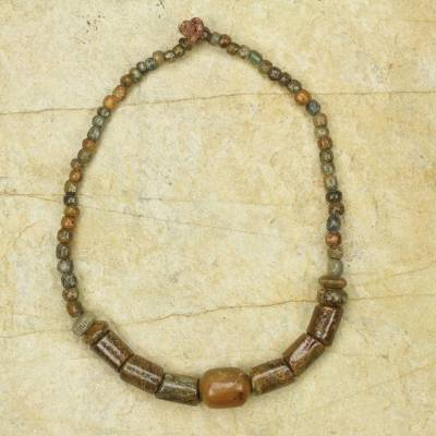 Novica Beaded necklace, Strength of Hope