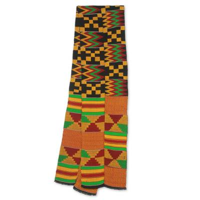 Cotton blend kente scarf, First Lady (2 strips)
