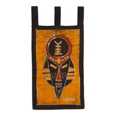 Cotton batik wall hanging, Battle Cry