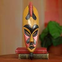 African mask, 'Hausa Alhaji' - Hand Carved African Wood Mask from Ghana
