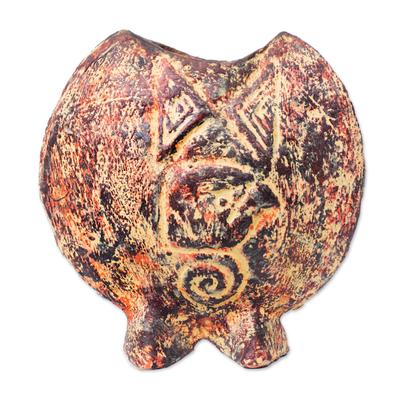 Ceramic vase, 'Eagle' - Ceramic vase