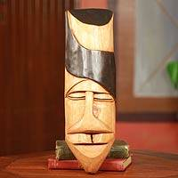 African mask, 'Bawa Dancer' - Hand Carved Cedar Wood Bawa Dance African Mask