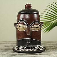 African wood mask, 'Bobo Ceremony' - Burkina Faso African Mask Hand Carved from Native Wood