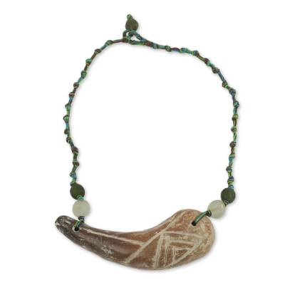 Antique Style African Beaded Necklace Crafted by Hand