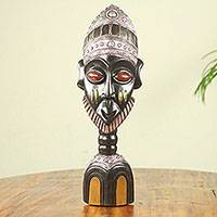 African wood sculpture, 'Mamprusi Man' - Hand Crafted African Wood Sculpture of Mamprusi Tribesman