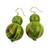 Beaded earrings, 'Dzidzo in Lime Green' - Fair Trade Beaded African Earrings Crafted by Hand (image 2a) thumbail