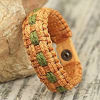 Men's wristband bracelet, 'Great Expectations' - Woven Polypropylene Cord Bracelet for Men from Ghana