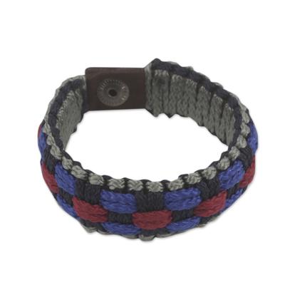 Multicolored Woven Cord Wristband Bracelet for Men