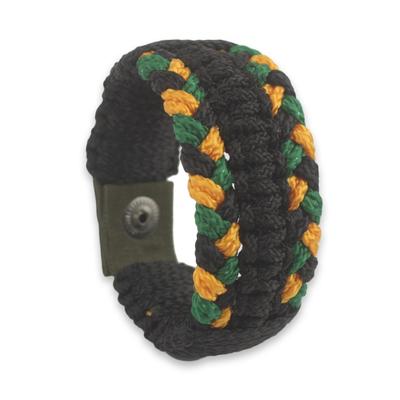 Men's wristband bracelet, 'Golden Braid' - Fair Trade Men's Wristband Bracelet Crafted in Ghana