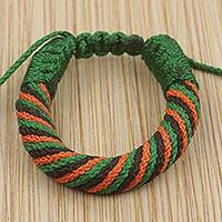Men's wristband bracelet, 'Krobo Joy' - Artisan Crafted Men's Colorful Cord Wristband Bracelet