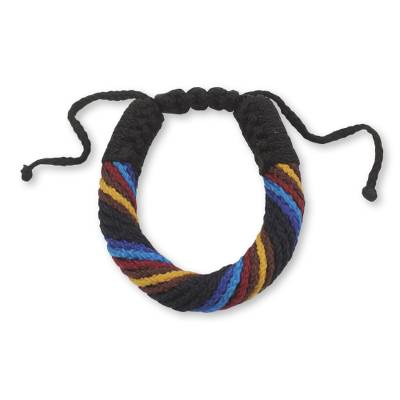 Hand Crafted Cord Bracelet for Men with Adjustable Length
