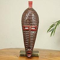 African wood mask, 'Dan Origins' - Original African Wood Mask Carved by Hand in Ghana