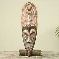 African mask, 'A Prominent Person' - Ghana Richly Textured Handmade African Mask