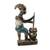 Wood sculpture, 'Bright Maame' - African Sculpture Woman and Child Cooking Hand Carved Wood thumbail