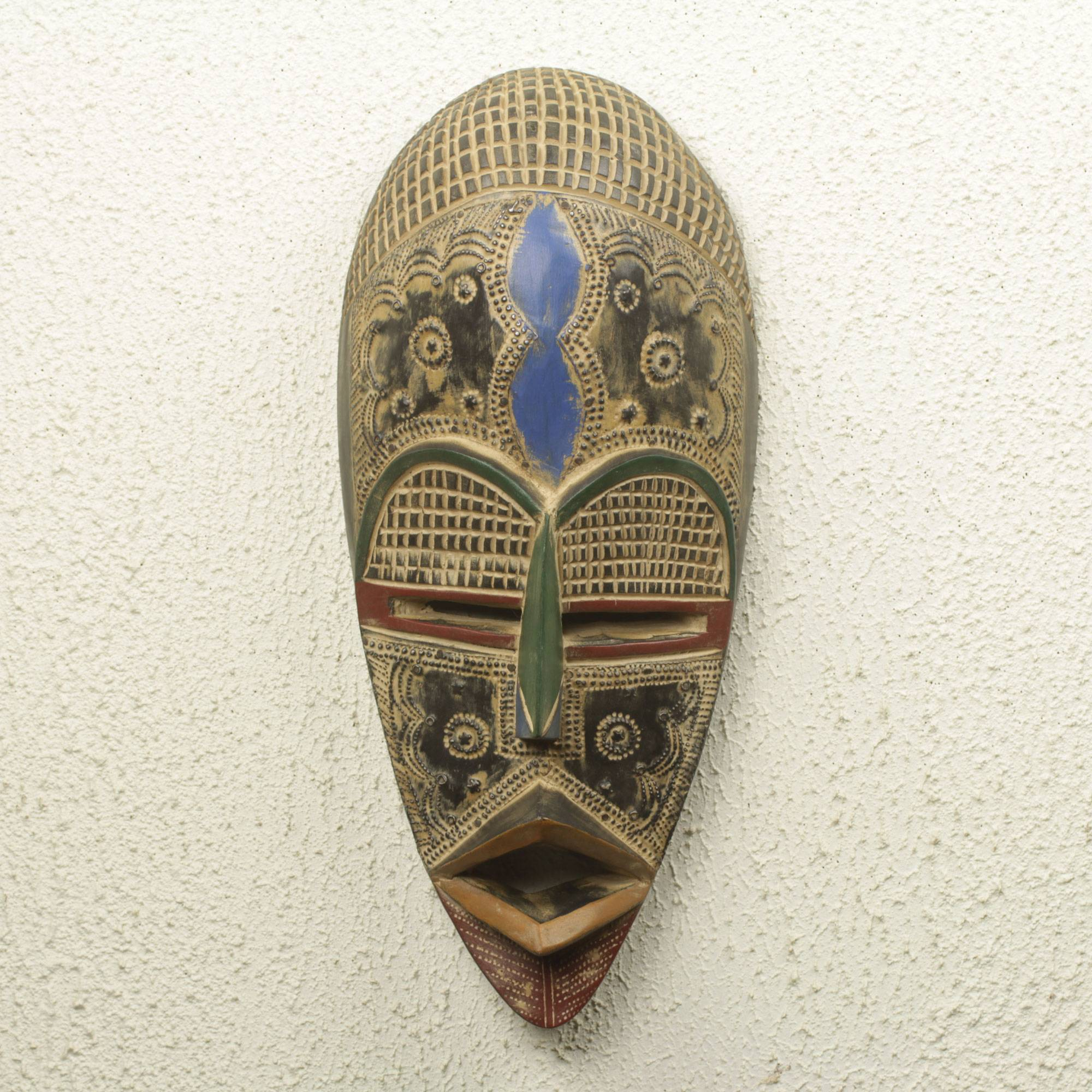 Authentic African Mask Handcrafted In Ghana Opanyin Novica