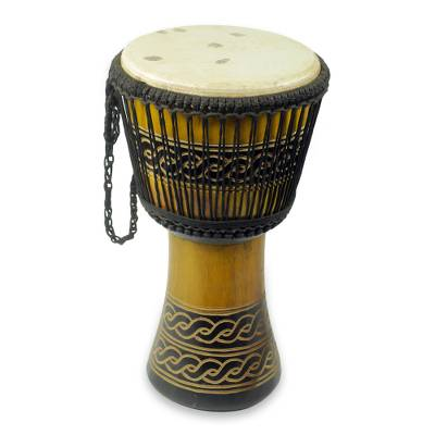 Adinkra Theme Authentic African Djembe Handcrafted Drum