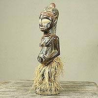 Wood sculpture, 'Expecting a Baby' - Handcrafted African Wood Sculpture