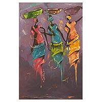 'After the Rain' - Contemporary African Painting of Ghanaian Women