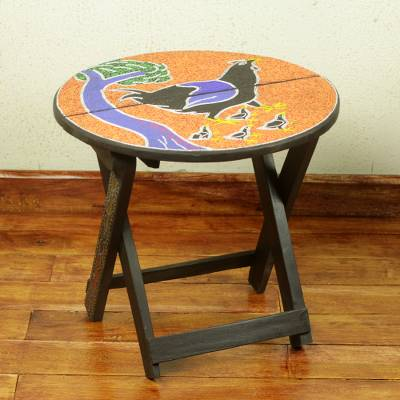 Wood folding table, Akukor