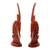 Mahogany sculptures, 'Bambara Antelopes' (pair) - Hand Crafted Wood Sculpture (Pair) (image 2b) thumbail