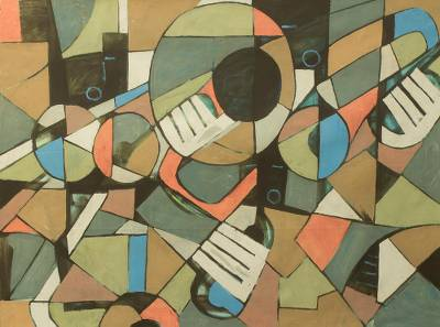 'C Sharp' (2015) - Music Theme West African Cubist Painting