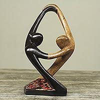 Wood sculpture, 'Salsa Dance' - Semi Abstract Wood Sculpture of Couple Salsa Dancing