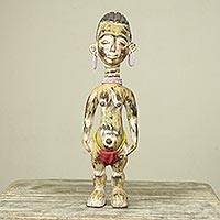 African wood sculpture, 'Fante Fertility Doll II'